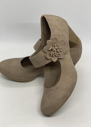 Туфли на липучке цветок 🌺 37р