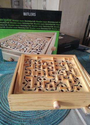 . деревянный лабиринт butlers.настольная игра