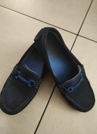 Кожанные мокасины, туфли