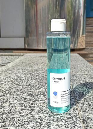 Purito dermha-3 liquid  глубокоувлажняющий тонер для устранения сухости и стянутости кожи