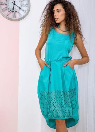 Платье цвет бирюзовый 167r008-1 64866