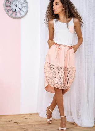 Платье цвет персиковый 167r008-1 64868