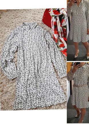 Стильное платье рубашка в цветочный принт, chicoree,  p  m-l