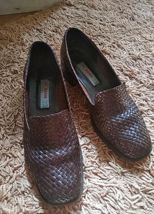 Кожаные туфли с плетением intrecciato