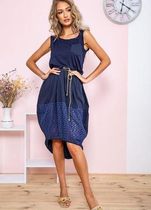 Платье цвет темно-синий 167r008-1 64870