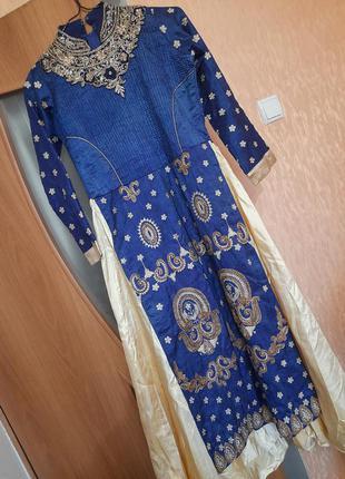 Шикарное индийское турецкое платье косплей винтаж ретро танцы фотосессия этно этническое