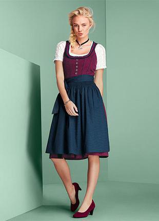 Баварский традиционный костюм дирндль, полный комплект от тсм tchibo (чибо), германия, m-l