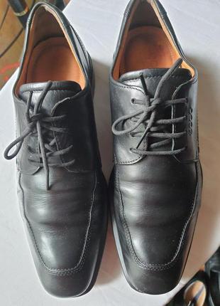 Ecco shock point португалия легкие туфли натуральная кожа 43 р.