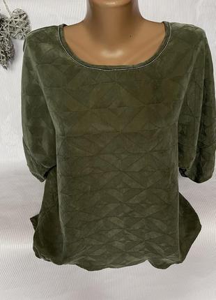 Крутая , брендовая , стильная блуза , 70%шелк  30% вискоза