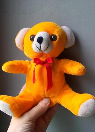 Мягкая игрушка оранжевый медведь 16 см