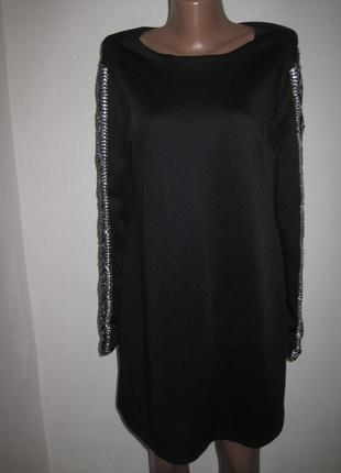 Черное вечернее платье topshop р-р16