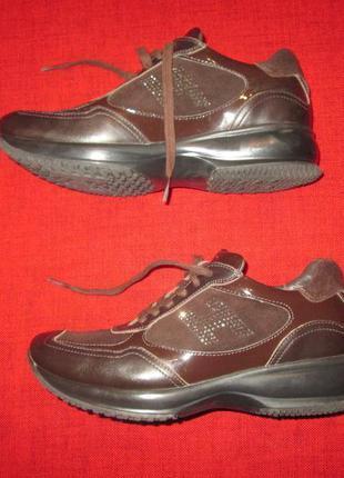 Кожаные кроссовки сникерсы hogan италия