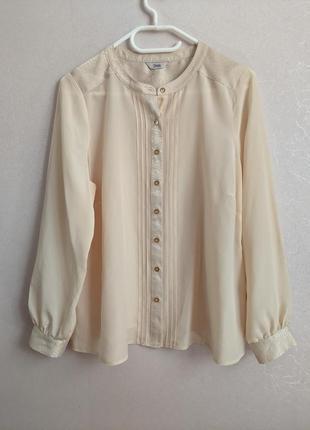 Кремовая блузка, рубашка