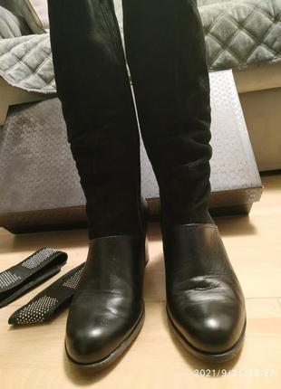 Осінні чоботи замша і шкіра.