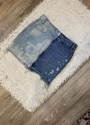 Юбка джинсовая на молнии