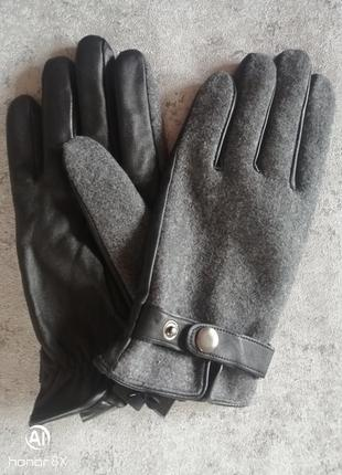 Кожаные перчатки женские германия c&a