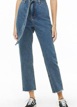 Бомбезные трендовые джинсы с поясом высокая посадка forever 21 momokrom 🍁🌹🍁