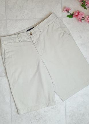 1+1=3 брендовые бежевые женские шорты коттон ralph lauren, размер 42 - 44