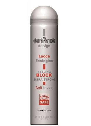 Envie design lacca block лак без газу екстра-сильної фіксації 350 мл