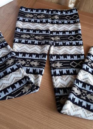 Зимние женские трикотажные  лосины./ stretch/ англия