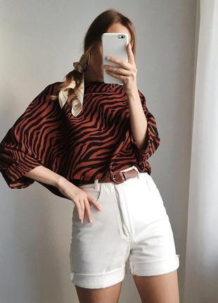 Блузка принт зебра primark