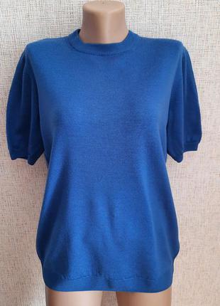 Шерстяной свитер с короткими рукавами peter hahn тасманийская шерсть