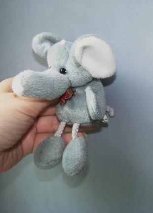 Мягкая игрушка маленький серый слоник 12 на 6 см