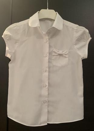 Блузочка - рубашка белая на 7-8 лет