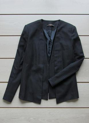 Синий пиджак блейзер в полоску от next