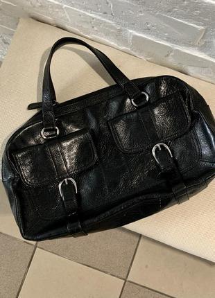 Шкіряна сумочка від бренду tula!