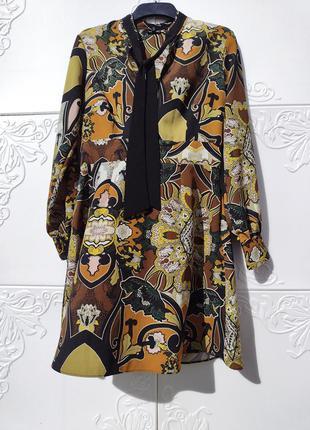 Разноцветное пёстрое платье необычный принт river island марокко