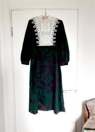 Плаття zara  льон кружево