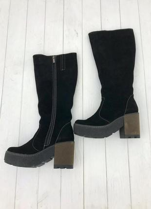 Женские замшевые сапоги, жіночі замшеві чоботи
