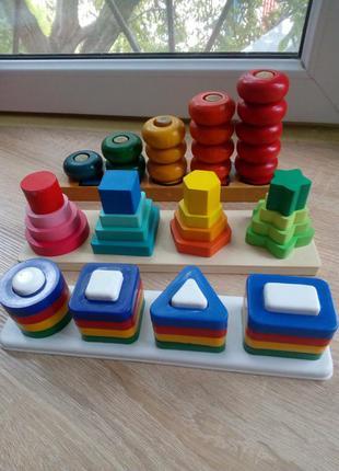 Сортер развивающие игрушки геометрические фигуры цвета счет