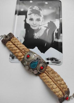 Стильный браслет в бохо этно стиле ручная работа перу
