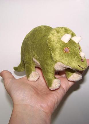 Мягкая игрушка зеленый динозавр 18 на 9 см senckenberg