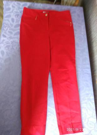 Плотные, элитные качественные красные брюки ,размер 14