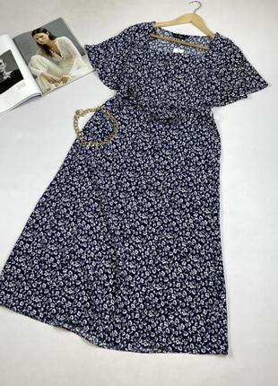 Натуральное миди платье размер  батал