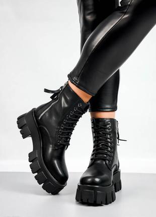 Женские ботинки кожа