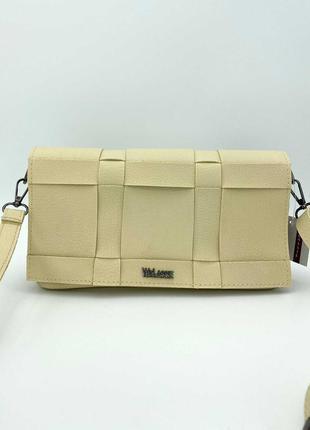 Женская сумка. жіноча сумка з еко-шкіри (бежева).