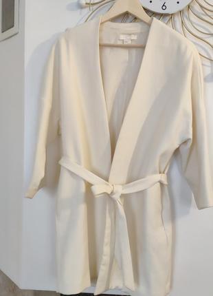 Неймовірний кардиган-кімоно, піджак h&m з лімітованої колекції, молочного кольору