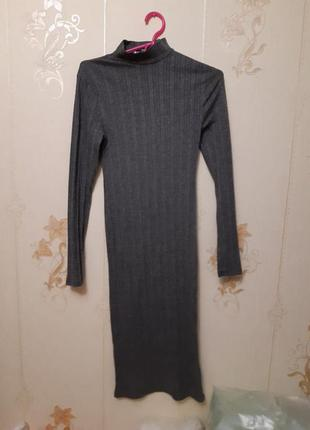 Длинное осеннее платье