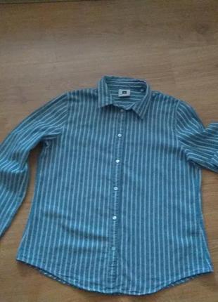 Тепла сорочка жін. коттонова,  на підкладі  items (італія), р. xl/l