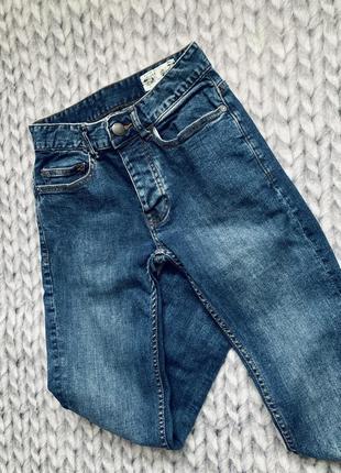 Джинсы темно-синие плотный джинс джинси denim co