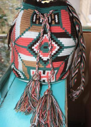 Стильная сумка торба в этно бохо стиле