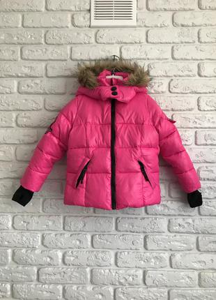 Пухова зимова демісезонна коротка спортивна куртка пуховик сша, пуховая курточка зимняя деми спортивная