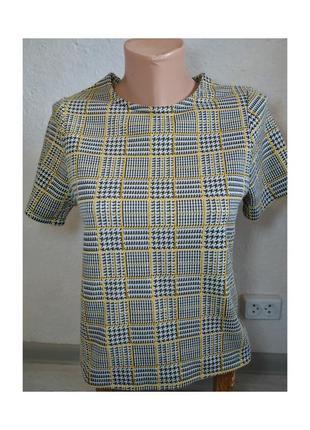 Актуальная футболка, стильная, в клетку, с молнией, трендовая, модная, new look