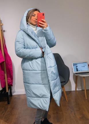 Голубая куртка одеяло