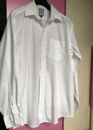 Белая базовая рубашка прямого кроя оригинал
