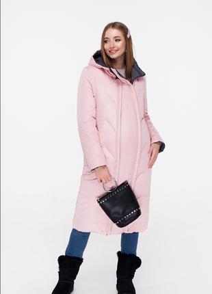 Пальто зимнее двухстороннее  для беременных